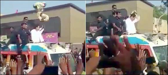 રાહુલ ગાંધી કર્ણાટકની પાંચમી વખત મુલાકાતેઃ ગળામાં કોઇએ માળા ફેંકતા સ્તબ્ધ