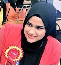 લંડનમાં ભારતીય મુસ્લિમ યુવતિનો ડંકોઃ હૂમૈરા ગરાશિયાઅે કાઉન્સેલરની ચૂંટણી જીતી