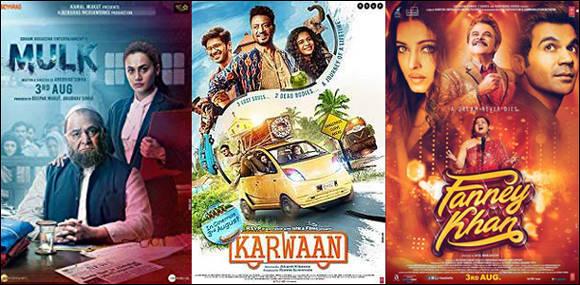 ત્રણ ફિલ્મો 'ફન્નેખાં', 'મુલ્ક' અને 'કારવા' રિલીઝ
